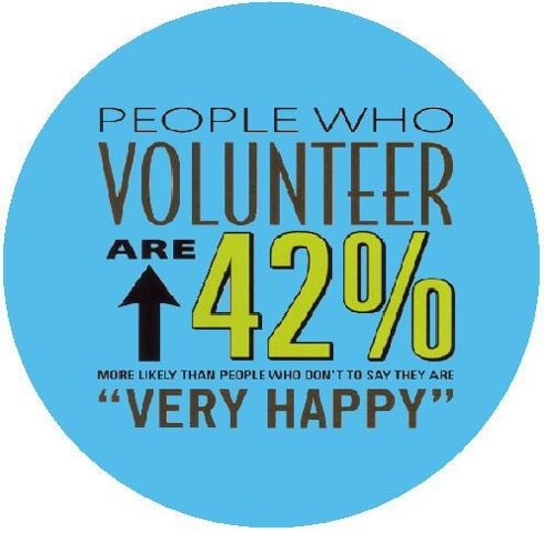 Happy volunteers