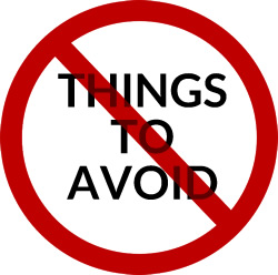 Things to avoid - donations